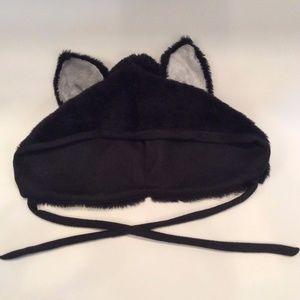 Trixy Xchange Unisex Black Fur Wolf Hood Hat